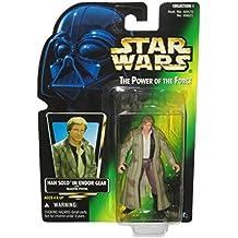 Han Solo en Endor Gear * Con Blaster pistola * Star Wars 1996el poder de la fuerza–Figura de acción