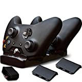 #10: Ortz® Xbox One Controller Charger + FREE AC Wall Charger Adapter & 2x Rechargeable Batteries - Charging Base for 2x Controllers - Play and Charge Kit System - Dual Dock Charging Station - Best Accessories, Top Quality - 1 YEAR WARRANTY
