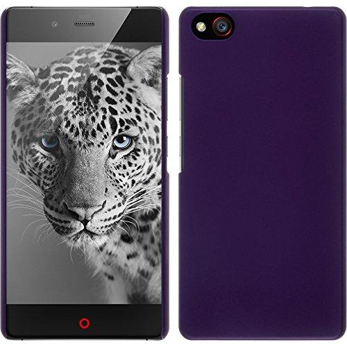 PhoneNatic Case kompatibel mit ZTE Nubia Z9 Max - Hülle lila gummiert Hard-case + 2 Schutzfolien