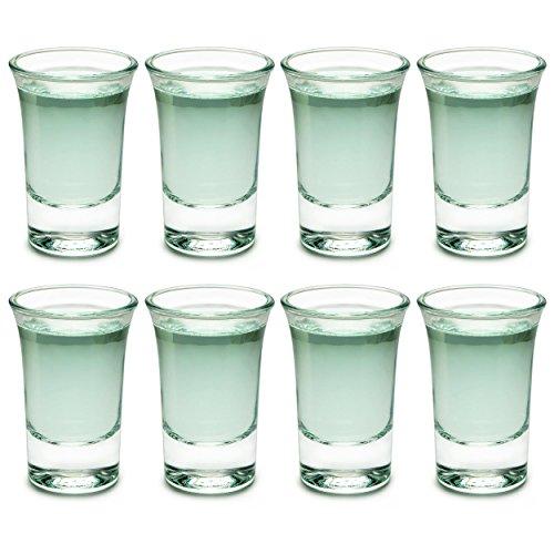Juego de 8vasos de chupito 30ml, Real de cristal vasos de chupito,