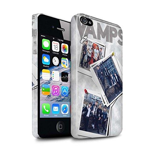 Officiel The Vamps Coque / Clipser Brillant Etui pour Apple iPhone 4/4S / Pack 5Pcs Design / The Vamps Livre Doodle Collection Collage