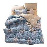GJFLife Warme Lamm Kaschmir Daunendecke Steppdecken, Weiche Fluffy Bettdecken Duvet Decke Duvet-D 200x230cm(79x91inch)