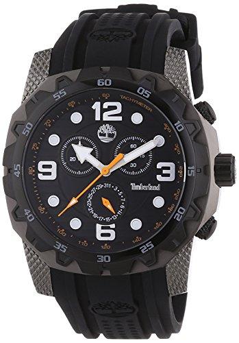 Timberland TBL.13318JSUB/02 - Reloj analógico de cuarzo para hombre, correa de silicona color negro (cronómetro)