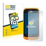 BROTECT Schutzfolie kompatibel mit ZTE Open L [2er Pack] klare Bildschirmschutz-Folie