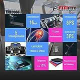 Fitifito® Laufband Heimtrainer Fitnessgerät 99+ Programme klappbar LED Bildschirm Dämpfung (EMEC660B) - 2