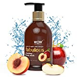 WOW Fabulous Foaming Body Wash - No Parabens & No Sulphates - Peach & Apple Cider Vinegar Shower Gel - 300 ml