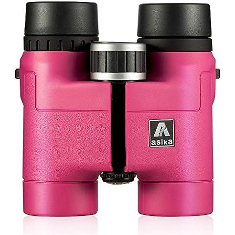 BNISE - 8x32 Prismáticos HD - Telescopio Militar para la caza y el recorrido - Compacto Plegable de Bolsillo Tamaño - alta Clear Vision - Color rosa