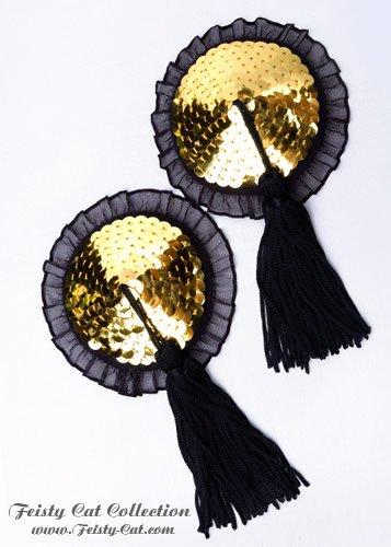 nippel-pasties-mit-tassels-und-ruschensaum-peekaboo-gold-schwarz