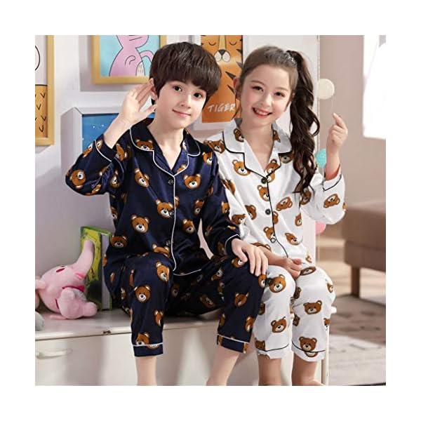 Pijama de Manga Larga para niños y niñas, de Shenye de 0 a 5 años, con diseño de Oso de Dibujos Animados y Pantalones, Pijamas 5