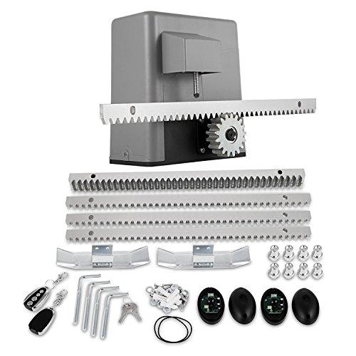 Buoqua Garagentorantrieb 600kg Door Opener remote 1300lbs GaragentorÖffner 4M Sliding Door Actuator mit Fernbedienung -