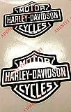 Harley-Davidson Aufkleber, harzbeschichtet, 3D Effekt, 2 Stück.Für Tankdeckel oder Helm.