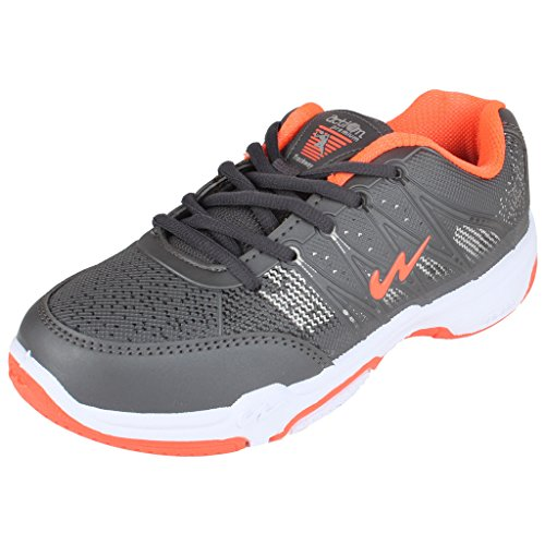 Action Campus Brass Series Dark Grey & Orange Casual Shoes For Kids ( Size :- 5CUK)
