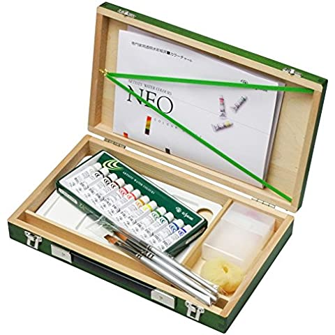 Brocca 12 colore resina casella di acquerello Kusakabe impostare Green (japan import)