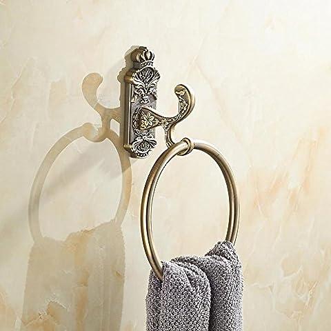 CU Anillo de toalla de bronce antiguo de estilo europeo, WC, toalleros, estantes del baño, corte de alambre de