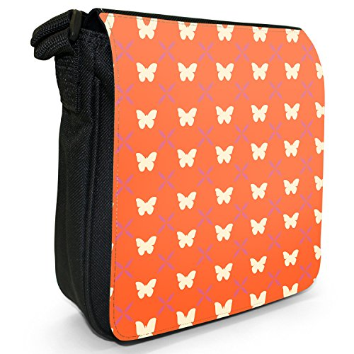 Fancy A Snuggle, Borsa a tracolla donna Umwerfender Schmetterling auf Orange