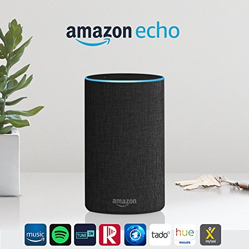 Das neue Amazon Echo (2. Generation), Anthrazit Stoff - 2