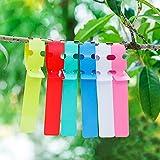 KINGLAKE 300 Pezzi Etichette per Piante in plastica Etichette per Alberi Multicolori, 2x20cm Etichette per Appendere da Giardino, marcatori per Piante Avvolgere Intorno
