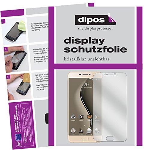 dipos I 2X Schutzfolie klar passend für Ulefone Gemini Folie Bildschirmschutzfolie