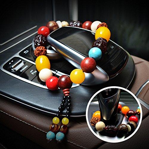 Inovey Pendentifs De Voiture Bodhi Stall Perles Cire d'abeille Bracelets Rétroviseurs Perles Accessoires Intérieur Produits Universels - Petit