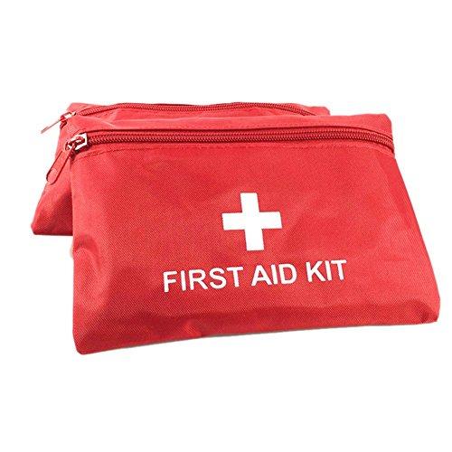 Mini-notfall-kit (Leezo Mini Leere Erste-Hilfe-kit Tasche Wasserdichte Notfall Medical Organizer Tasche für Home Office Arbeitsplatz Reise Camping Rot)