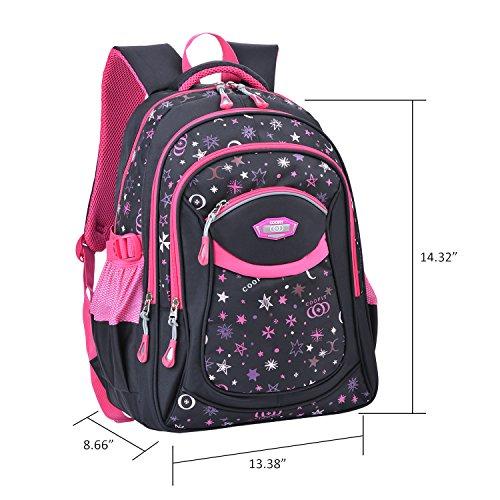Schulrucksack, Coofit Kinderrucksack Daypack Schultasche Grundschule Backpack Schulranzen für Mädchen Jungen Teenager Jugendliche - 2