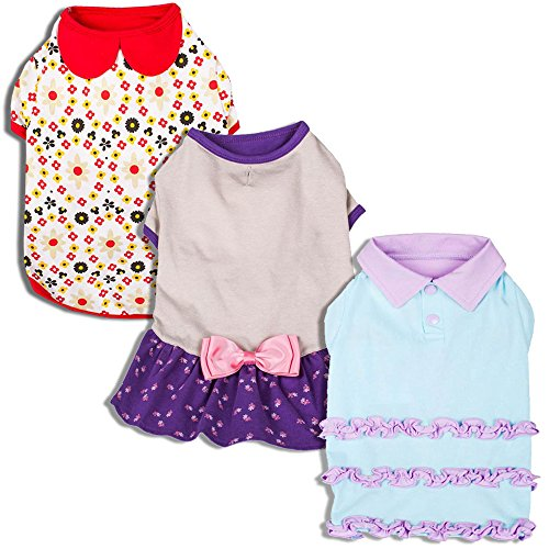blueberry-pet-ruffle-polo-cotton-dog-dress-back-length-10-25cm-pack-of-1-clothes-for-dogs