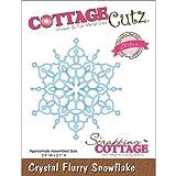 Elites CottageCutz da 2,7 pollici di cristallo Flurry Fiocco di neve Die Cu