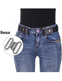 919404cc6537 Kajeer Sans boucle Élastique Invisible Ceinture - Élastique Taille Ceinture  Convient jeans pour quotidiens unisexe Pantalon