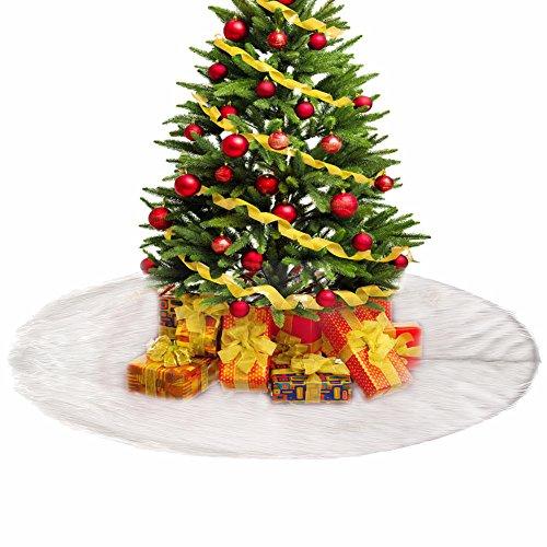 Weihnachtsbaum Rock Fell Weiß 90cm Weihnachtsbaumdecke Christbaumdecke Weihnachtsbaum Deko Baumdecke Schnee Plüsch (Weihnachtsbaum Passen)