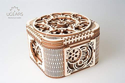Ugears 70031Boîte aux trésors / boîte, Kit de Construction en Bois 3D sans Colle