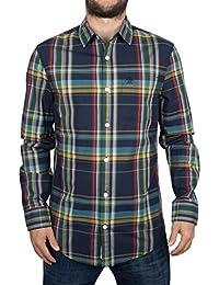 Original Penguin Homme Slim Fit Plaid Logo Shirt, Multicolore