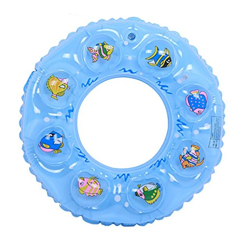 """Artistic9 Aufblasbare Schwimm-Ring, mit doppelter Schicht thickened Badehose Float Ringe für Kinder, Baby Erwachsene, blau, Inside Diameter-C:30cm/11.81"""""""