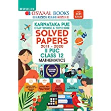 Oswaal Karnataka PUE Solved Papers II PUC Mathematics Book Chapterwise & Topicwise (For 2021 Exam)