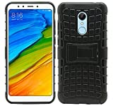 #8: AJM Premium Quality Defender Stylish Hard Back Armor Shock Proof Case Cover with Back Stand Feature For Xiaomi Redmi 5