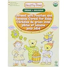 La harina de avena orgánica con los melocotones y plátano Cereal para el bebé - Healthy Times