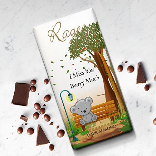 Rage I miss you Dark Almond Chocolate - 90 gms