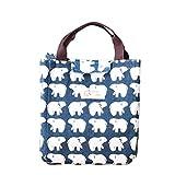 Hosaire 1x Aufbewahrung Tasche Mode Schön Eisbär Muster Storage Bag Faltbare Schließung Aufbewahrungsbeutel 25 x 21 x 22 cm
