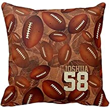 Football Pattern Name Jersey Number Team Spirit Pillow Case