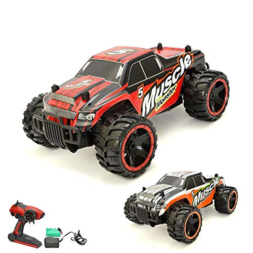 Aandyou Ferngesteuertes Auto,RC Auto 1:18, High Speed RC Off Road Auto, 2.4 GHz 4WD Monstertruck für Kinder (Schwarz)