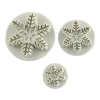 kentop 3stk Navidad molde Galletas forma Hornear y manualidades Copo de nieve de molde para magdalenas handgefertigte Galletas Chocolate