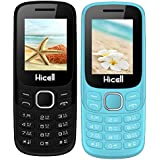 Hicell C9 Metro (Combo Of Two MOBILES) Dual Sim Mobile Phone With Digital Camera And 1.8 Inch Screen (LightBlue+Darkgrey)