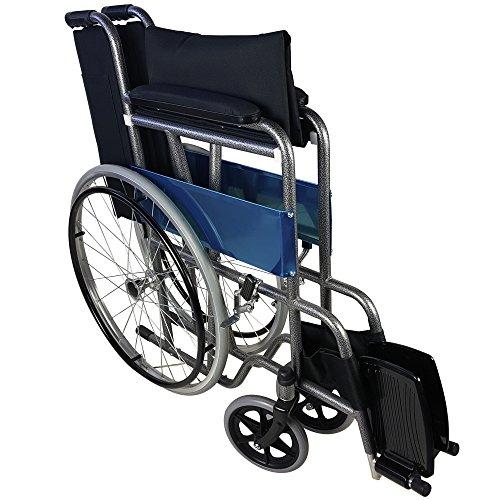 51B1cfDF7kL - Mobiclinic Silla de Ruedas Plegable | autopropulsable | Ancho Asiento 46 cm | Negro | Alcázar | Mobiclinic