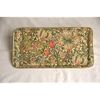 Quality Rectangular Fibreglass Tray in Exclusive William Morris Golden Lily