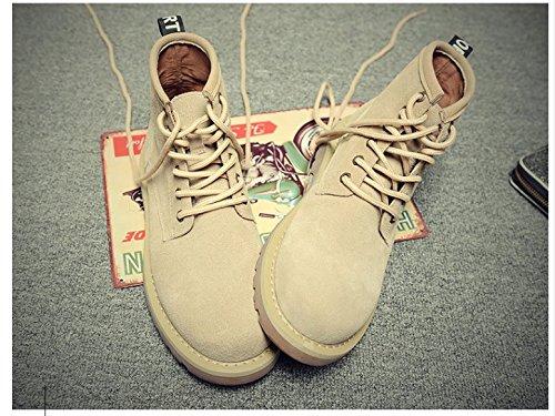 HL-PYL-Uomo Stivali di Martin grande testa Calzatura alta stivali scarpe Versione coreana Sand color