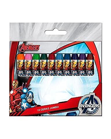 AVENGERS MARVEL boite de 12 crayons de cire de couleurs jumbo