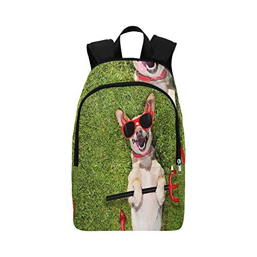 Ghost Kostüm Spooky - Chihuahua Hund Ghost Halloween Scary Spooky Lässige Daypack Reisetasche College School Rucksack Für Herren und Frauen