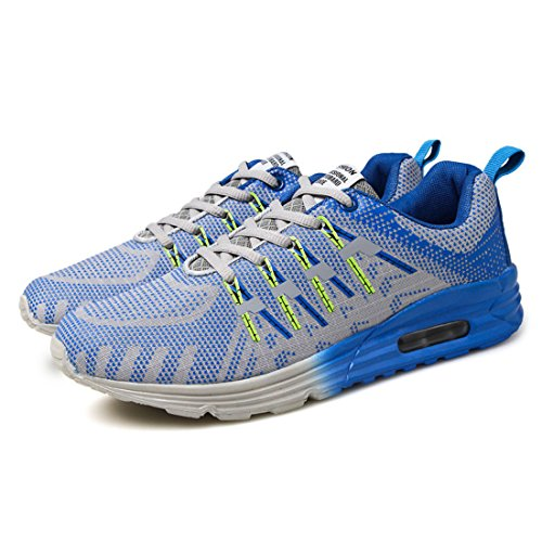 Men's Breathable Chusion Outdoor Light Athletic Running Shoes Sky Blue