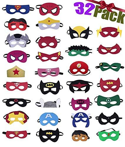 32 Piezas Máscaras de Superhéroe