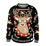 Weihnachtspullover mit coolem Rentier bedruckt