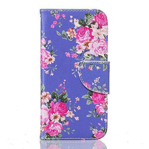 MOONBAY MALL Premium Housse en PU Cuir Portefeuille Etui Housse Flip Case pour Apple iPhone 5SE / iPhone SE / iPhone 5e avec fonction de support - Stylet & film de protection d'écran. BT-28 BT-10